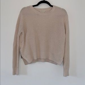 H&M Knit Crewneck Sweater with Zippers